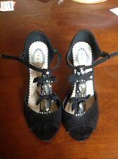 Debut Black Embellished Shoes Size 4