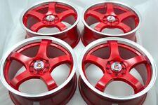 17 Drift red wheels rims Accord Vigor CL TL Civic Corolla Miata XB 4x100 4x114.3