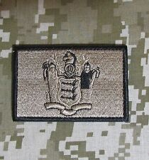 NEW JERSEY STATE FLAG US ARMY MORALE DESERT VELCRO® BRAND FASTENER BADGE PATCH