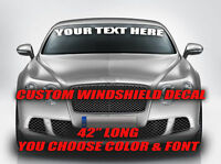 CUSTOM WINDSHIELD BANNER DECAL YOU CHOOSE TEXT FONT LETTERING HIGH QUALITY VINYL