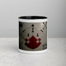 Afghan Kite Design - Stylish & Sleek, White Ceramic Mug with Color Inside