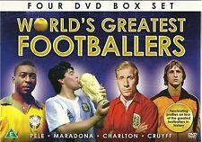 WORLD'S GREATEST FOOTBALL PLAYERS 4 DVD SET PELE MARADONA CHARLTON & CRUYFF NEW