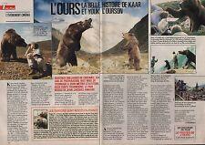 Coupure de presse Clipping 1992  L'Ours de Jean Jacques Annaud  (3 pages)