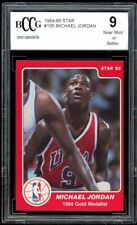 1984-85 Star #195 Michael Jordan Rookie Card BGS BCCG 9 Near Mint+
