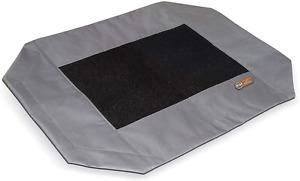 "K&H Pet Products Original Pet Cot Replacement Cover Large Gray/Mesh 30"" x 42"""
