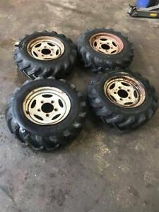 Land Rover Steel Wheels And Dumper Tyres x4 7.5 R16