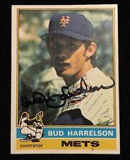 BUD BUDDY HARRELSON 1976 TOPPS Autograph Signed AUTO Baseball Card 337 METS