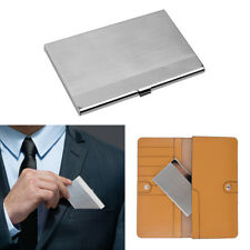 Acier Inoxydable Boite Etui Porte Carte Credit Visite ID Billet Metal Rigide NF