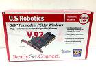 New! US Robotics 56K Faxmodem  V.92 PCI for Windows 5699B DSL/Phone (RJ-11)