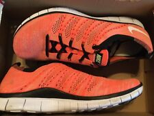 New Mens Nike Free Flyknit NSW Running Shoes 599459-800 Sz 12 hot lava