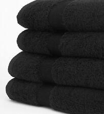 6 NEW BLACK SALON TOWELS DOBBY PREMIUM RINGSPUN HAND TOWELS 16X27 3.5LB