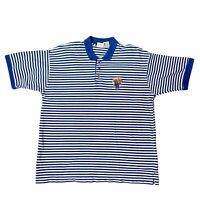 Vintage Iron Knights Kentucky Wildcats Mens Striped Short Sleeve Polo Shirt XL
