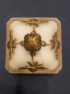 Ancien Sucrier Bonbonnière Opaline de Foire Portieux Vallerysthal