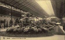 Gand Gent Belgien AK ~1910 Interiéur de la Gare du Sud Grünanlage im Süd Bahnhof