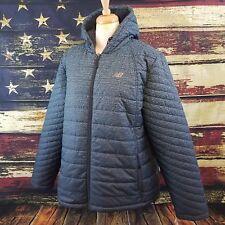 d8abdb56fd9 New Balance Women Gray Fleece Lined Puffer Quilted Hooded Tech Jacket Size  1X