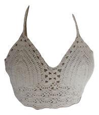 Women Crochet Lace Cami Tank Crop Bralette Top Boho Bralet Bra Beach Bikini UK