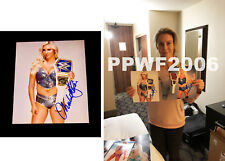 Wwe Charlotte Flair Hand Signed 8X10 Autographed Photo With Pic Proof & Coa 14
