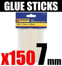 150 x Glue Sticks for Hot Melt Glue Guns 7mm x 100mm