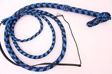 6 Ft Para-cord( Nylon) Bullwhip, Professional Quality Blue & Black Bull Whip