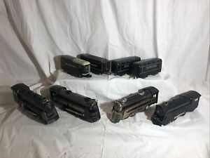 Lot of 4 Marx Trains Locomotive with Tender