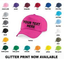 PERSONALISED BASEBALL CAP, HAT, MENS, LADIES, CUSTOM PRINTED - ANY TEXT