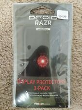 Genuine Motorola Droid Razr M Display Screen Protectors 3-Pack NEW