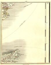 ISLE OF THANET & HAVEN PORTS. Margate Ramsgate Felistowe Harwich. CARY 1794 map