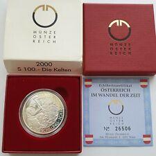 """ÖSTERREICH 2. Republik 100 Schilling Millennium 2000 """"Die Kelten"""" PP (26709)"""