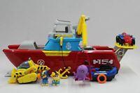 PAW PATROL Sea Patroller Boat & Land Vehicle Playset w Added Figures & Vehicles