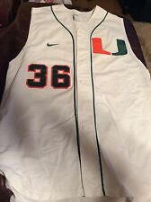 University Of Miami Game Used Baseball Jersey Size 44 #36 Greg Howell