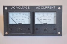 Blinky Lights Marine AC Voltage And Current Meters With Panel And Wiring