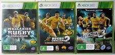 Rugby Challenge 3, Rugby Challenge 2 and Wallabies Rugby Challenge Xbox 360