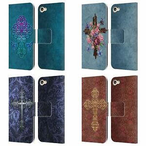BRIGID ASHWOOD CROSSES LEATHER BOOK WALLET CASE COVER FOR APPLE iPOD TOUCH MP3