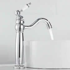 Traditional Faucet Bathroom Basin Mixer Taps Tall Counter Top Chrome Brass Tap