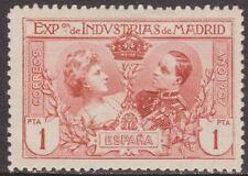 España 1907 Edifil SR5 Sello * Exposicion Industrias de Madrid 1Pta Spain Stamps