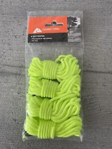 Ozark Trail Guy Ropes Tent Ropes Fluorescent Yellow 3m Length - Pack Of 4