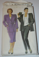 sewing pattern jacket with belt  and trousers plus 18 to 26