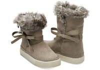 $130 Toms Desert Taupe Suede Women's Vista Boots Ankle Faux Fur Booties 9