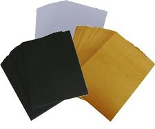 50 X A6, A5 Or 5x7inch Card, Choose White, Kraft Or Black. Blank Post Card Stock
