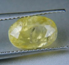 4.35CT CEYLON FANCY YELLOW SAPPHIRE 100% NATURAL OVAL SHAPE GEMSTONE