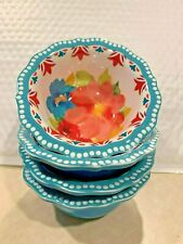 New listing The Pioneer Woman Breezy Blossoms Design Dip Dipping Bowl 4 Piece Set Htf
