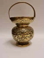 Vintage Indian Brass Water Jug with Beautiful Character Details