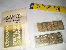 Dollhouse Miniature Vintage Solid Brass Stencils Bunch Christmas Tree Ornaments