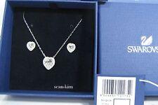 Swarovski Cyndi Set, Pendant/Earrings Heart Shaped Clear crystal MIB 5112175