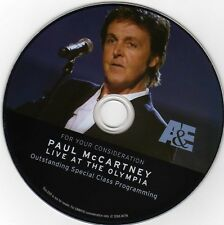 "PAUL McCARTNEY - Rare DVD, Live Olympia Theater, Paris 2007 A&E ""Secret Concert"""