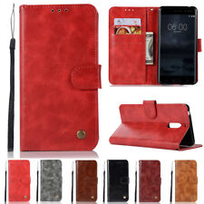 Retro Strap Magnetic Flip Leather Wallet Case Cover For Nokia 2 3 5 6 8 9 7Plus