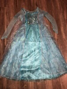 DISNEY PARKS World Frozen Princess ELSA Dress sz 7/8 Castle Collection