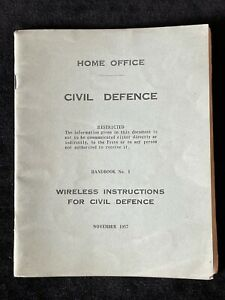Home Civil Defence Wireless Instructions for Civil Defence Restricted Book 1957