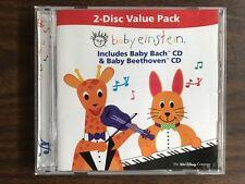 BABY EINSTEIN 2 DISC VALUE PACK BABY BACH / BEETHOVEN DISNEY CHILDREN'S MUSIC