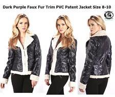 Waist Length Biker Jackets without Fastening for Women